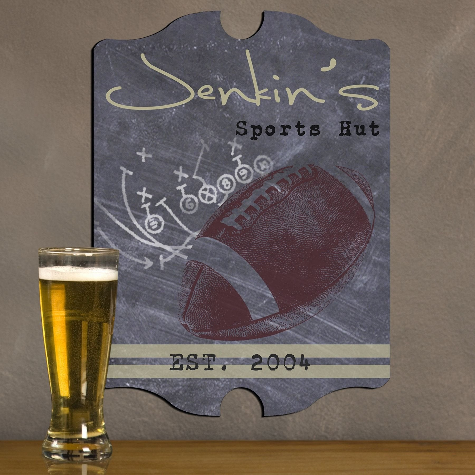 Personalized Vintage Tavern Pub Sign - Football