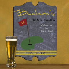 Personalized Vintage Tavern Pub Sign - Baseball, Billiards, Football, Golf, Homerun, Mug - Golf - Man Cave Gifts - AGiftPersonalized
