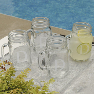 Personalized Glasses - Set of 4 - Mason Jars - Glassware - Wedding Gifts - Classic - JDS