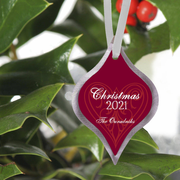 Personalized Elegant Christmas Ornament - Love - JDS