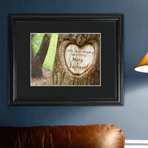 Personalized Personalized Tree Carving Sign - Framed