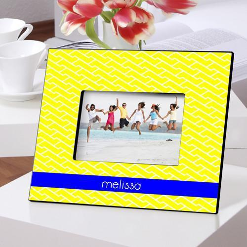 Personalized Color Bright Picture Frames - ChevronYellow - JDS