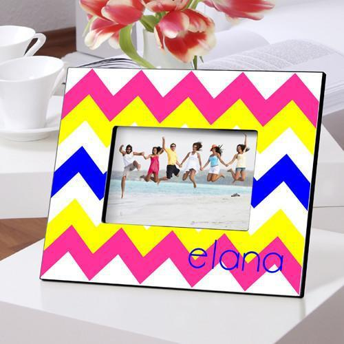 Personalized Color Bright Picture Frames - Zigzag - JDS