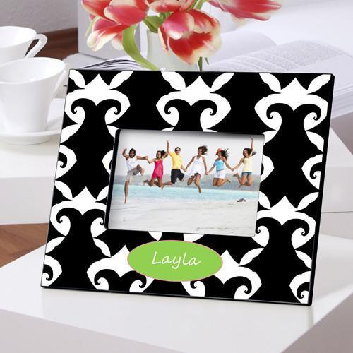 Personalized Color Bright Picture Frames - Damask - JDS