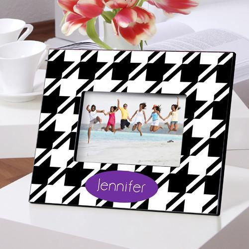 Personalized Color Bright Picture Frames - HoundsTooth - JDS