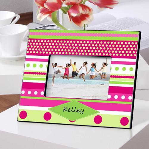 Personalized Color Bright Picture Frames - Pinkdots - JDS