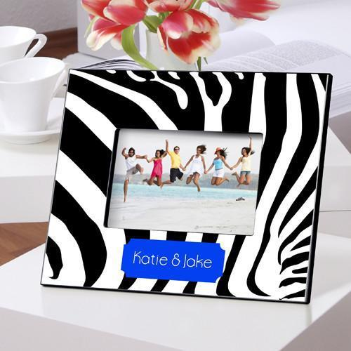 Personalized Color Bright Picture Frames - Zebra - JDS