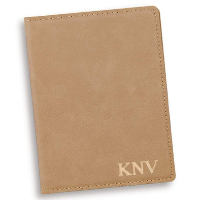 Personalized Light Brown Passport Holder -  - JDS