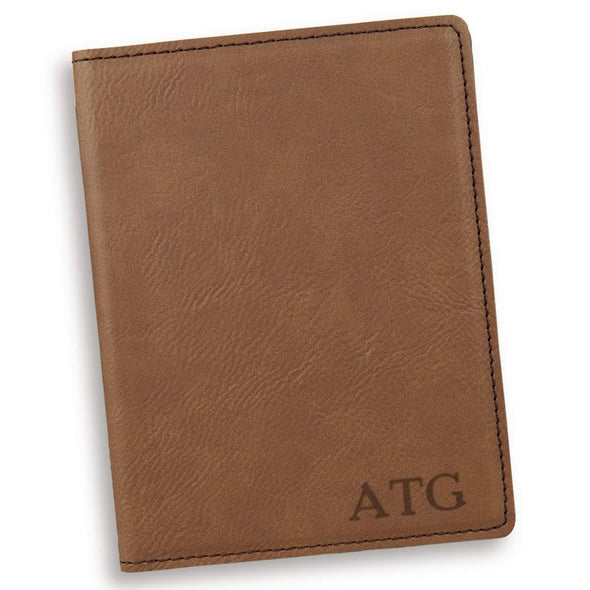 Personalized Dark Brown Passport Holder - RoseGold - JDS