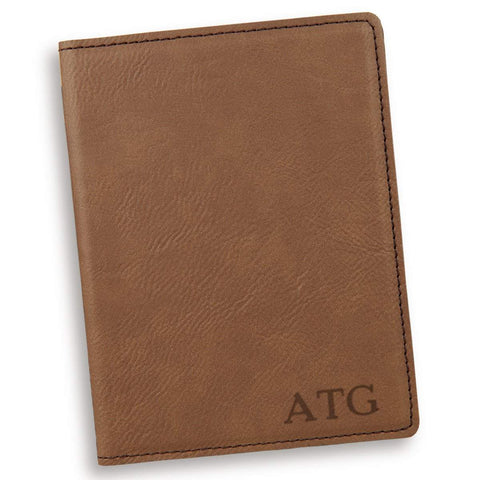Personalized Dark Brown Passport Holder - RoseGold