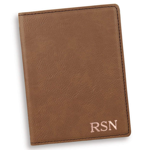Personalized Dark Brown Passport Holder -