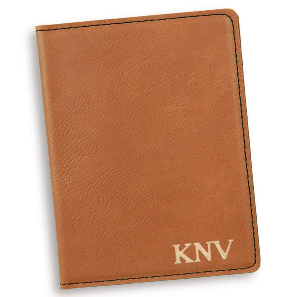 Personalized Rawhide Passport Holder - Gold - JDS
