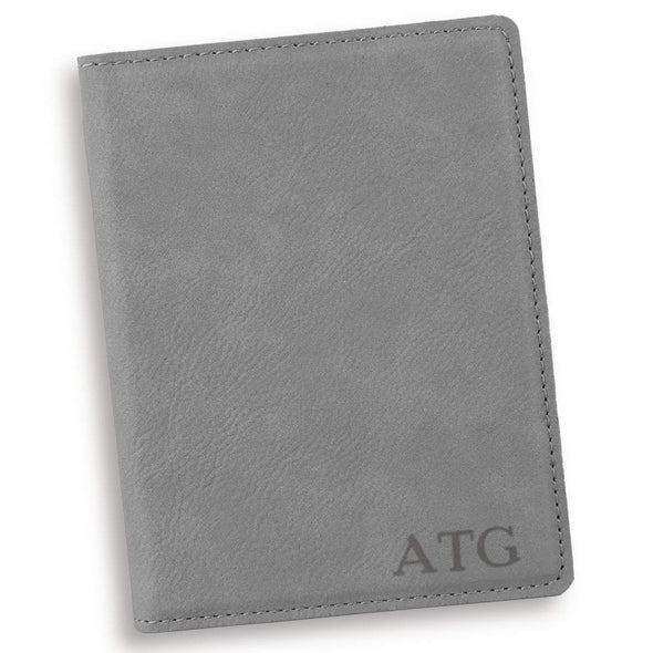 Personalized Gray Passport Holder - Blind - JDS