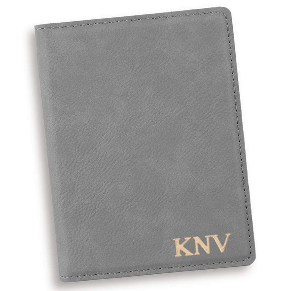 Personalized Gray Passport Holder - RoseGold - JDS