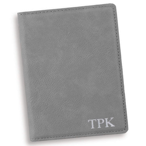 Personalized Gray Passport Holder - Silver - Travel Gear - AGiftPersonalized