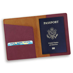 Personalized Rose Passport Holder -