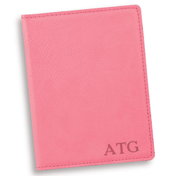 Personalized Pink Passport Holder - Gold - JDS