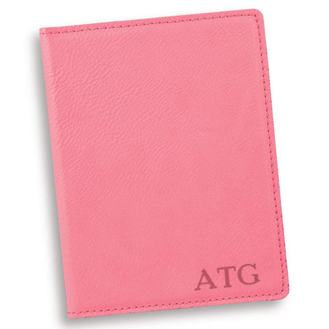 Personalized Pink Passport Holder - Gold