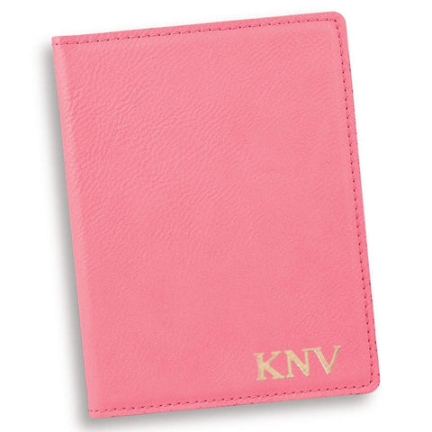 Personalized Pink Passport Holder - Gold - Travel Gear - AGiftPersonalized