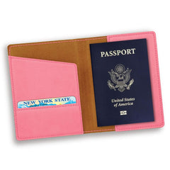 Personalized Pink Passport Holder -  - Travel Gear - AGiftPersonalized