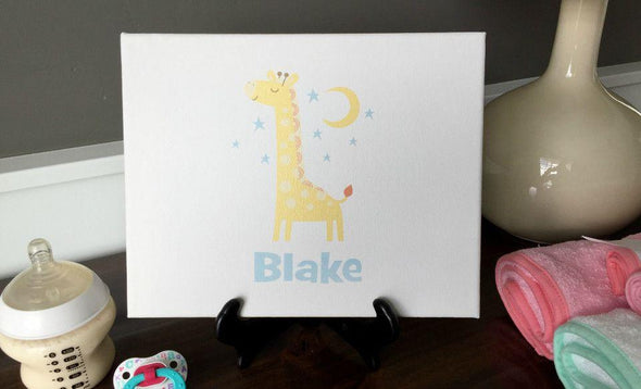 Personalized Canvas Wall Décor - Classic Design - Baby Boy -  - Qualtry