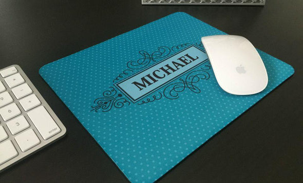 Personalized Mouse Pads - Decorative Swirl Design -  - Qualtry