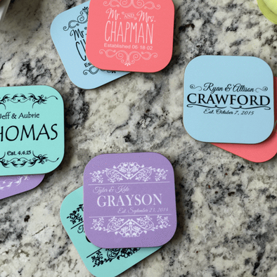 Personalized Designer Coasters - Set of 2 -  - Qualtry