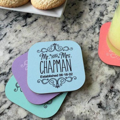 Personalized Designer Coasters - Set of 4 -  - Qualtry