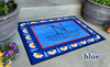 Personalized Large Door Mats - Floral Border Design -  - Qualtry