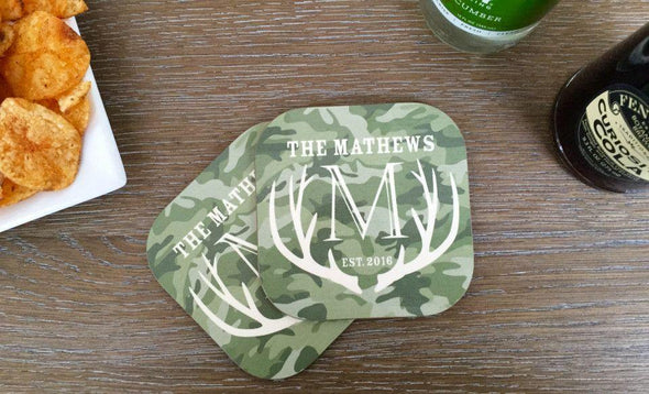 Personalized Hunting Coasters - Set of 2 -  - Qualtry