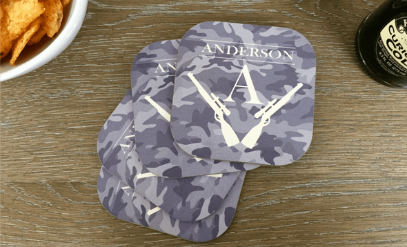 Personalized Hunting Coasters - Set of 4 -  - Qualtry