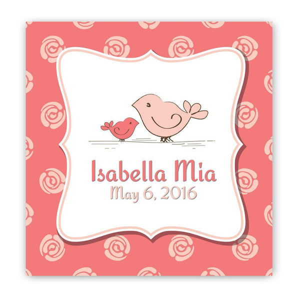 Personalized Baby Nursery Canvas Signs - Bird - JDS