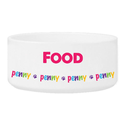 Personalized Girl Pet Bowl - Food - Pet Gifts - AGiftPersonalized