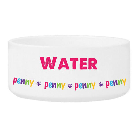 Personalized Girl Pet Bowl - Water - Pet Gifts - AGiftPersonalized