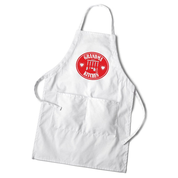 Personalized Women's White Apron - Kitchen Apron -  - JDS
