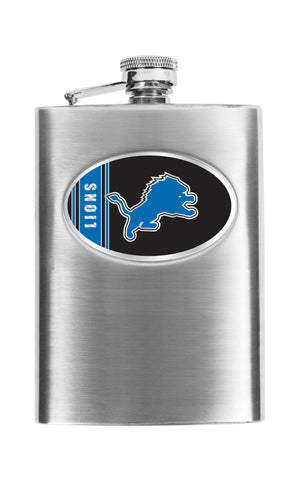 Personalized Flask - NFL Team Flask - Stainless Steel - Lions - Professional Sports Gifts - AGiftPersonalized