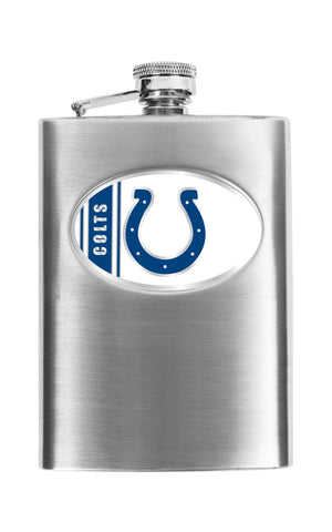 Personalized Flask - NFL Team Flask - Stainless Steel - Colts - Professional Sports Gifts - AGiftPersonalized