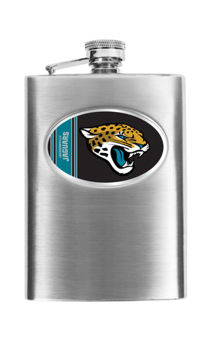 Personalized Flask - NFL Team Flask - Stainless Steel - Jaguars - Professional Sports Gifts - AGiftPersonalized
