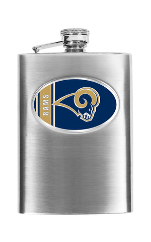 Personalized Flask - NFL Team Flask - Stainless Steel - Rams - Professional Sports Gifts - AGiftPersonalized