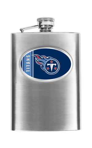 Personalized Flask - NFL Team Flask - Stainless Steel - Titans - Professional Sports Gifts - AGiftPersonalized