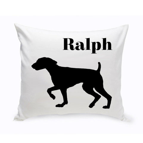 Monogrammed Dog Throw Pillow -  Classic Silhouette - SpringerSpaniel - Pet Gifts - AGiftPersonalized