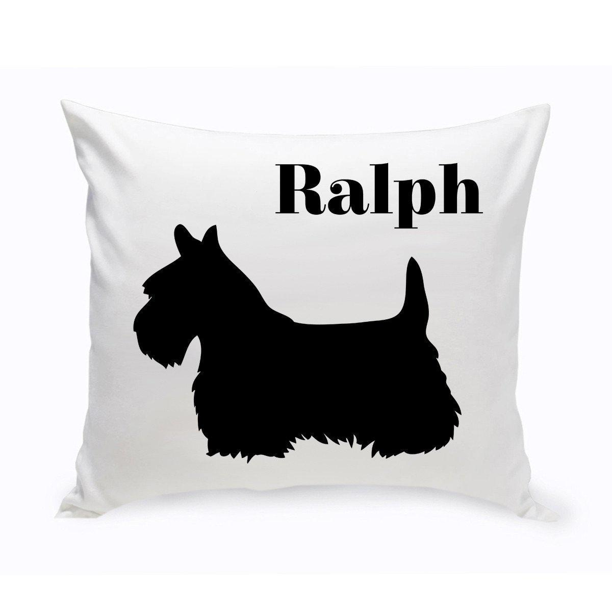 Monogrammed-Dog-Throw-Pillow-Classic-Silhouette