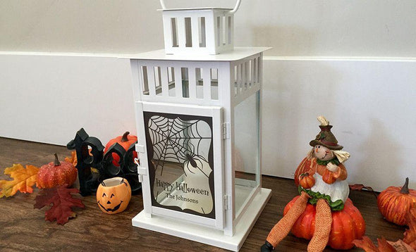 Personalized Halloween Lanterns - White - Qualtry