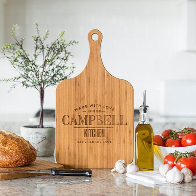 Personalized Handled Serving Boards (Modern Collection)- XL -  - Qualtry