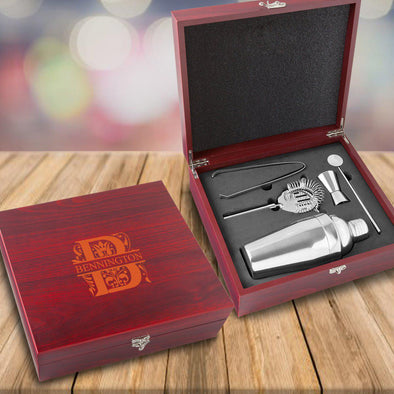 Personalized Rosewood Martini Gift Set Box -  - JDS