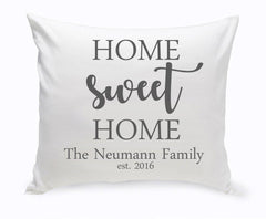Personalized Home Sweet Home Throw Pillow at AGiftPersonalized