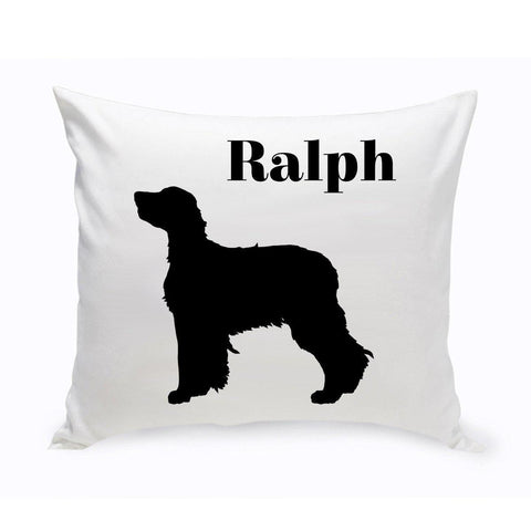 Monogrammed Dog Throw Pillow -  Classic Silhouette - Newfoundland - Pet Gifts - AGiftPersonalized