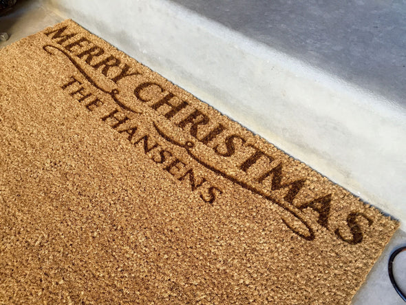Personalized Christmas Doormats – 2 Designs! -  - Qualtry