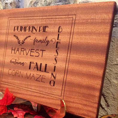Personalized Thanksgiving Mahogany decorative Cutting  Boards -  - Qualtry