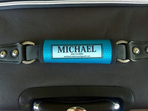 Personalized Luggage Bag Markers - Decorative Swirl Style -  - Qualtry